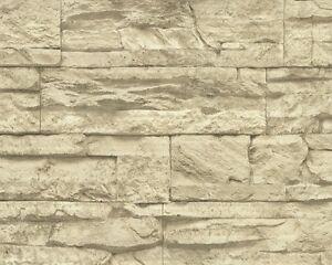 Murano-Steintapete-AS-7071-30-Vliestapete-Naturstein-3D-Optik-beige