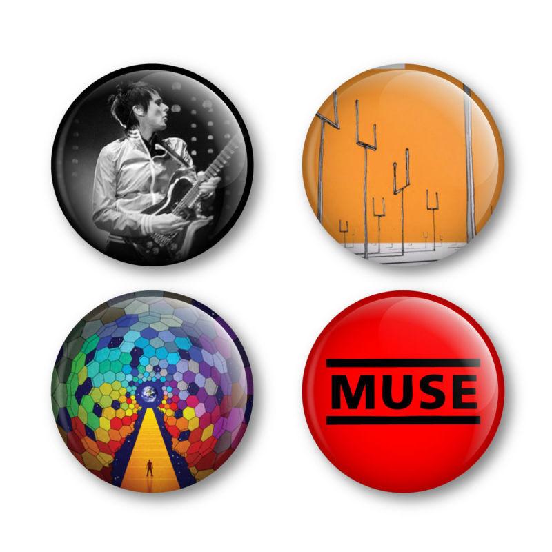 Muse Badges Buttons Pins Tickets Shirts Matt Bellamy