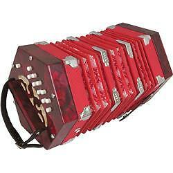Musician's Gear 20-Button Concertina Red in Musical Instruments & Gear, Accordion & Concertina | eBay
