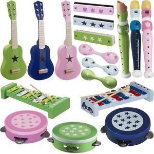 musikinstrumente f r kinder fl te gitarre xylophon trommel. Black Bedroom Furniture Sets. Home Design Ideas