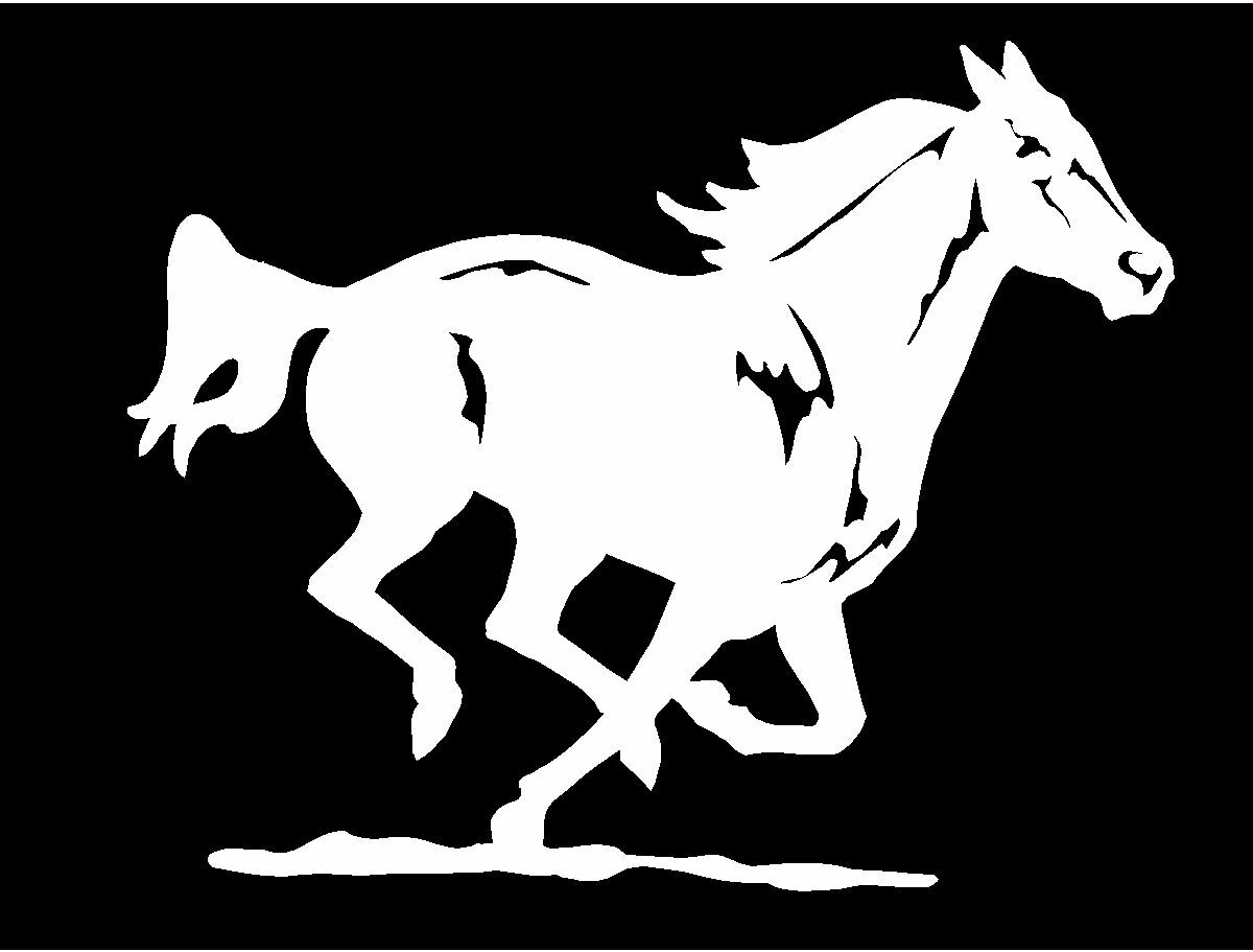 Mustang Horse Running Equestrian Trailer Vinyl Car Window Decal Sticker Graphic
