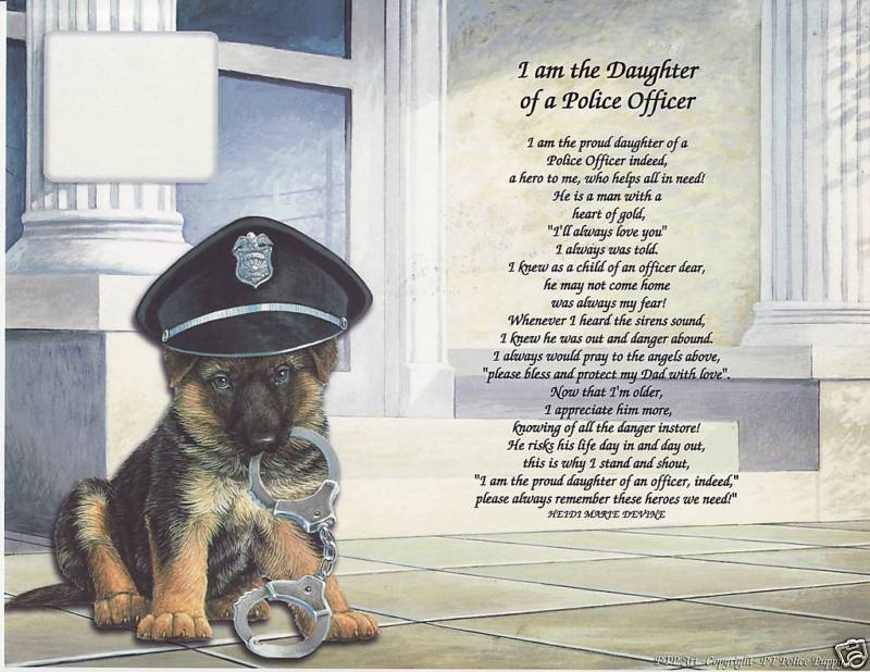 My DAD isa POLICE OFFICER Poem Personalized Name Print
