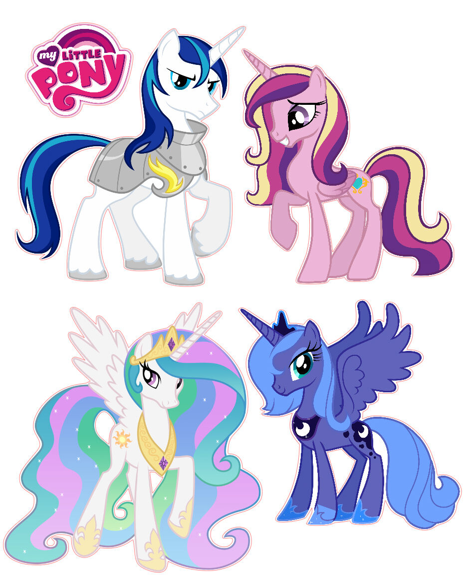 My little pony celestia and luna and cadence - Princesse poney ...