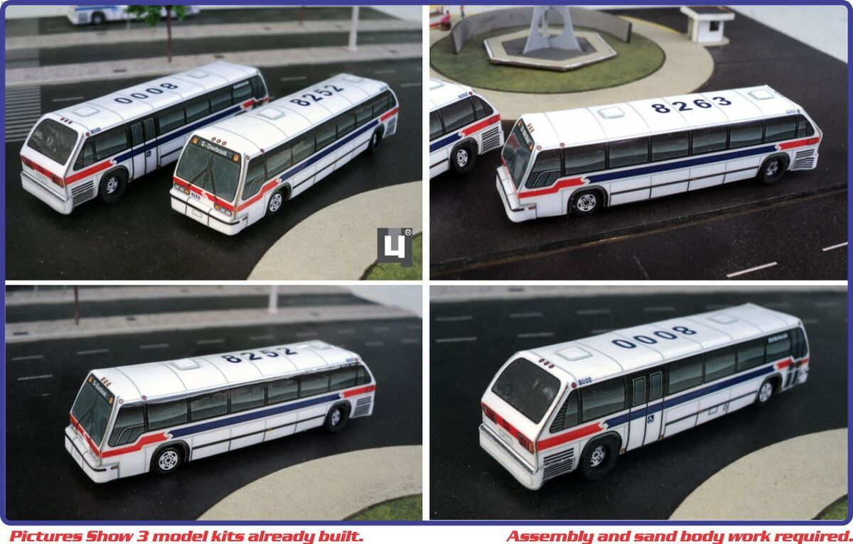 Scale 1 150 GMC SEPTA RTS Philadelphia City Bus 3 Model Kits