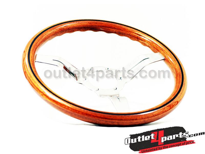 Nardi Steering Wheel Deep Corn 330mm Wood Grain Polish Spoke NRG Momo
