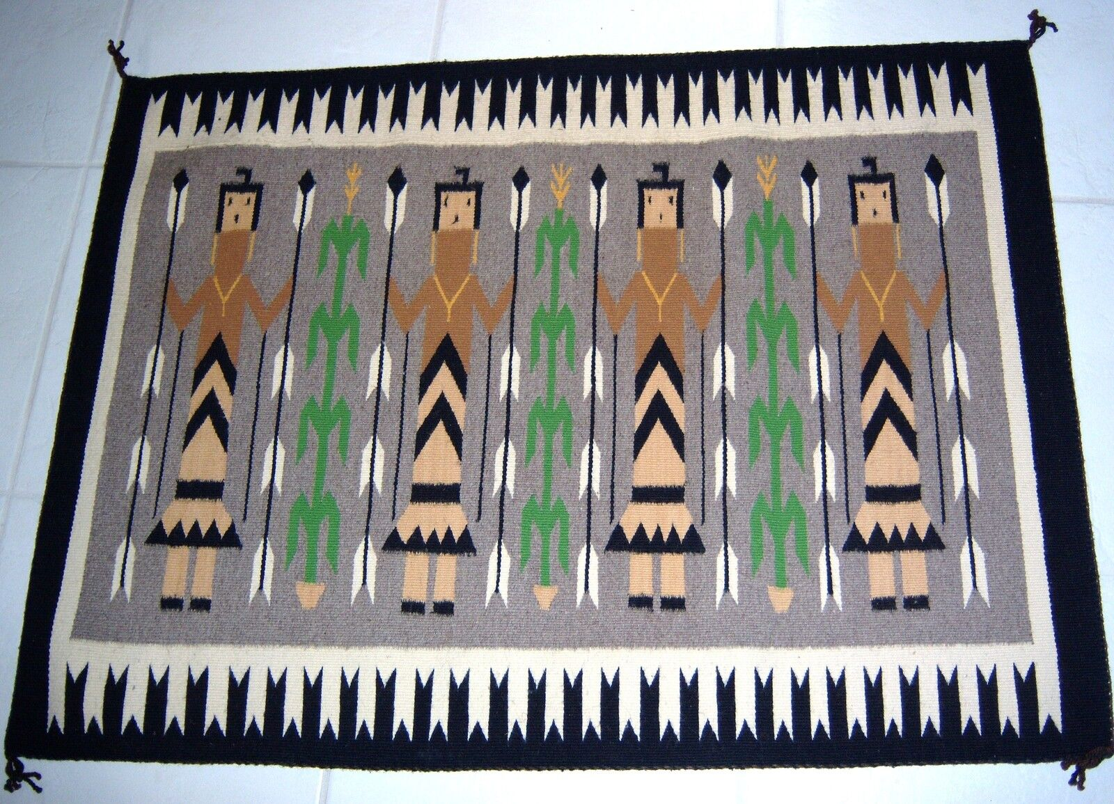 Yei Contemporary Navajo Rug For Sale