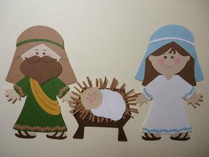 Nativity Paper Dolls Set Cricut Die Cut Embellishment | eBay