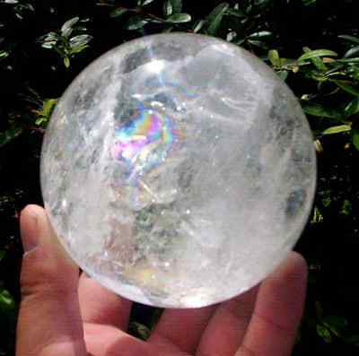 NATURAL RAINBOW CLEAR QUARTZ CRYSTAL SPHERE BALL HEALING GEMSTONE 60mm in Collectibles, Rocks, Fossils & Minerals, Crystals & Mineral Specimens | eBay