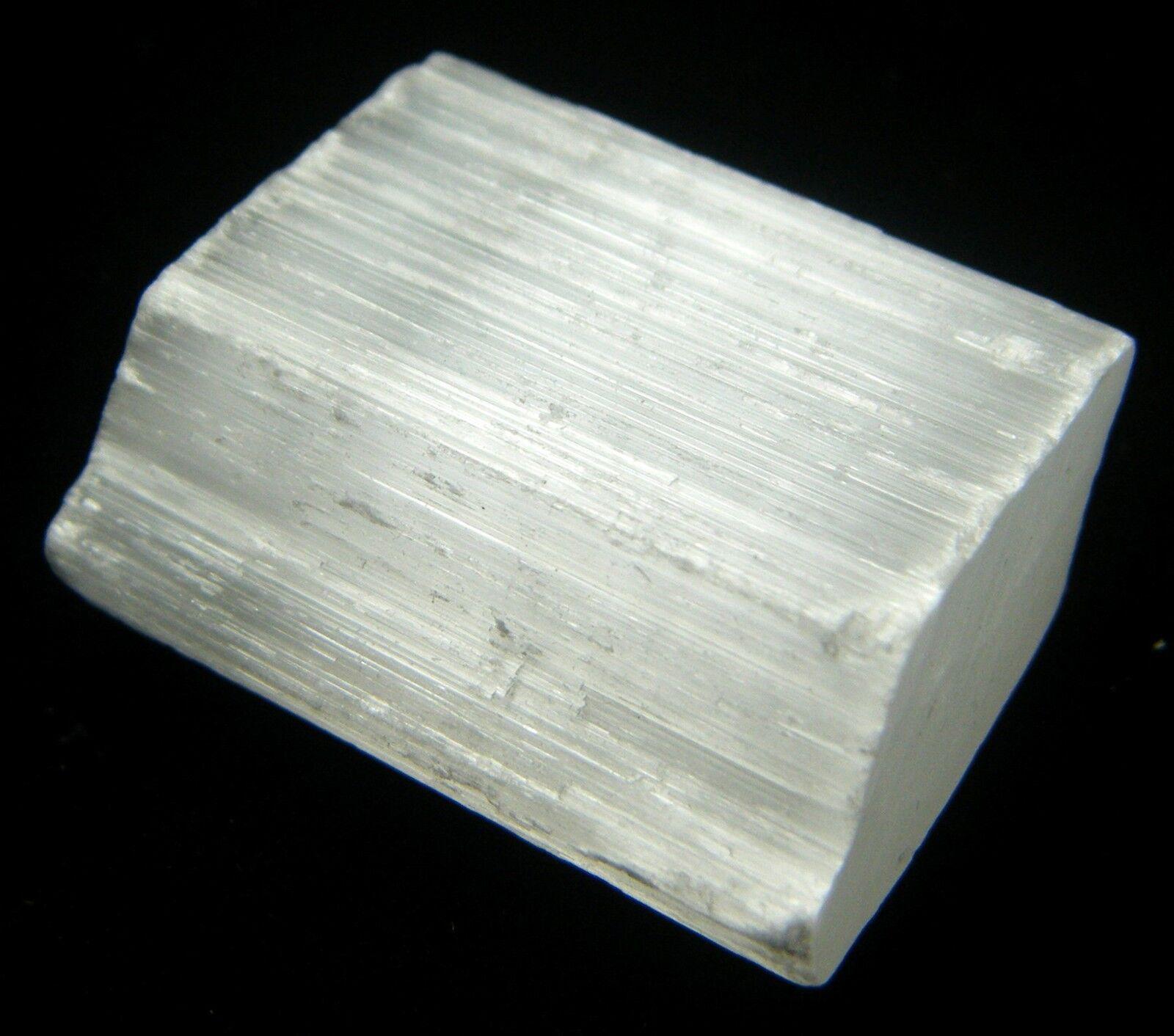 Gypsum Satin Spar ~ Natural specimen satin spar selenite chunk crystal with