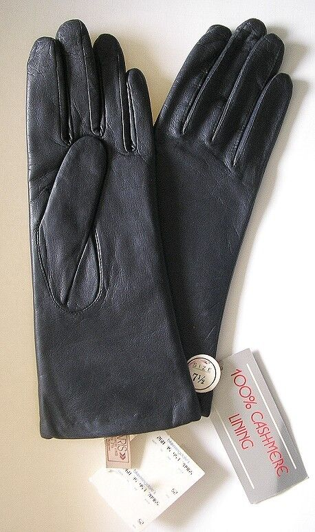 Lovely Ivory ARIS 1950s Perfed & Ruched Wristlet Gloves~Faux Pearl
