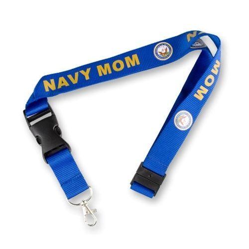 Navy Mom Mother New Blue Logo Military Lanyard