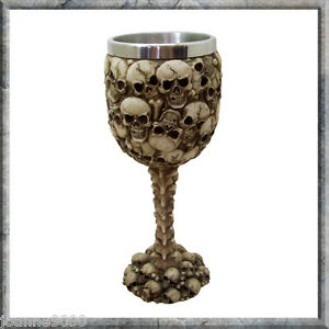 Nemesis Gothic Skeleton Skulls Spine Soul Goblet Chalice