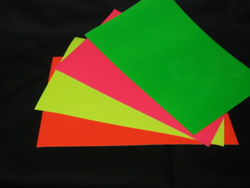 """NEON Fluorescent Sign Vinyl, Choose Your Color and Size, 24"""" wide rolls in Crafts, Other Crafts 