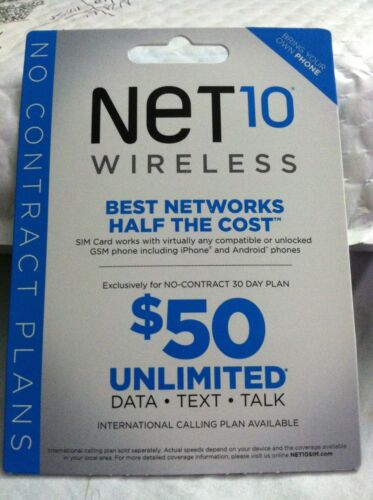 NET10 SIM CARD Great for GSM AT&T Phones. Minutes not included. in Cell Phones & Accessories, Phone Cards & SIM Cards, SIM Cards | eBay