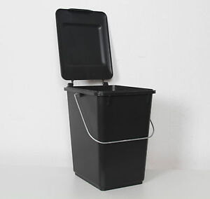 neu 10l bioboy sulo abfalleimer m lleimer eimer 10 liter bio boy grau schwarz ebay. Black Bedroom Furniture Sets. Home Design Ideas