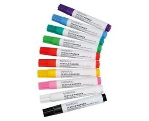 NEU-10er-Set-Beleduc-Textilstifte-Stoffmalstifte-Textilmarker-Stoffmaler-malen