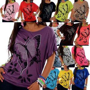 NEU-Damen-Longshirt-Tunika-Tshirt-Kleid-Bluse-Minikleid-T-Shirt-Japan-Style