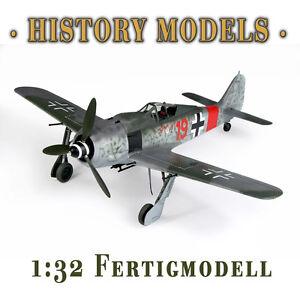 NEU-Focke-Wulf-FW-190-A-8-Rote-19-1-32-Fertigmodell-21st-Century-Toys-13314-S2