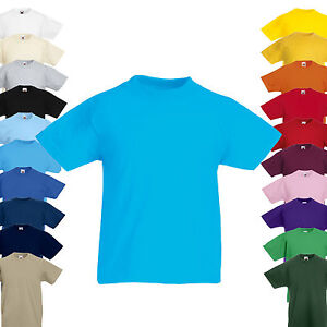 NEU-Fruit-of-the-Loom-Kinder-T-Shirt-Kids-Valueweight-T-Shirt-Kurzarm