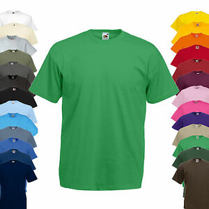 NEU-Fruit-of-the-Loom-Valueweight-T-Shirt-Herren-Kurzarm-Rundhals-T-Shirt