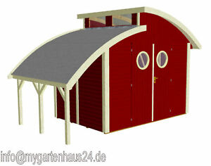 neu gartenhaus joda nautic 400 x 204 cm in schwedenrot ebay. Black Bedroom Furniture Sets. Home Design Ideas