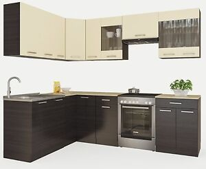 neu k che martha wenge l form 2500x1700 k chenzeile k chenblock kueche ebay. Black Bedroom Furniture Sets. Home Design Ideas