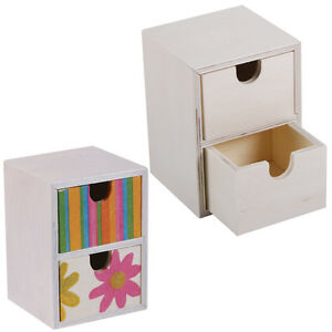 neu mini miniatur kommode natur holz holzbox deko rohling basteln malen bemalen ebay. Black Bedroom Furniture Sets. Home Design Ideas