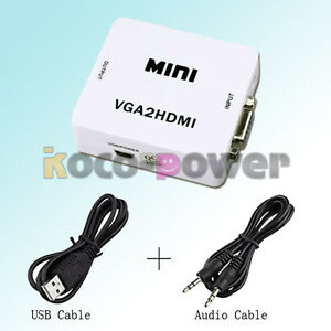 NEU-VGA-zu-HDMI-Video-Audio-Konverter-Converter-fuer-PC-Projektor-HDTV-USB-KABEL