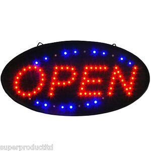NEUE-LED-Animiertes-Oval-Rahmen-Schild-leuchten-hell-Neon-Shop-Display