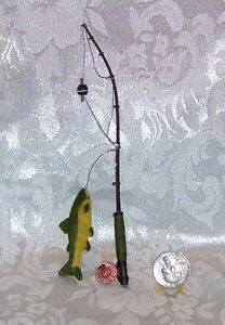 New 1 6 scale for barbie doll size miniature fishing pole for Barbie fishing pole