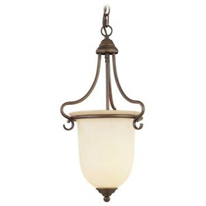 Hall Lighting : Details about NEW 1 Light Foyer OR Entry Hall Pendant Lighting, Bronze ...