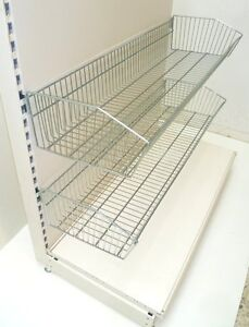 new 1250mm wide wire shelving basket will fit on any metal. Black Bedroom Furniture Sets. Home Design Ideas