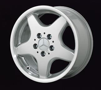 New 16 Mercedes AMG Style 5 Spoke Alloy Silver Rim Wheels 129 SL