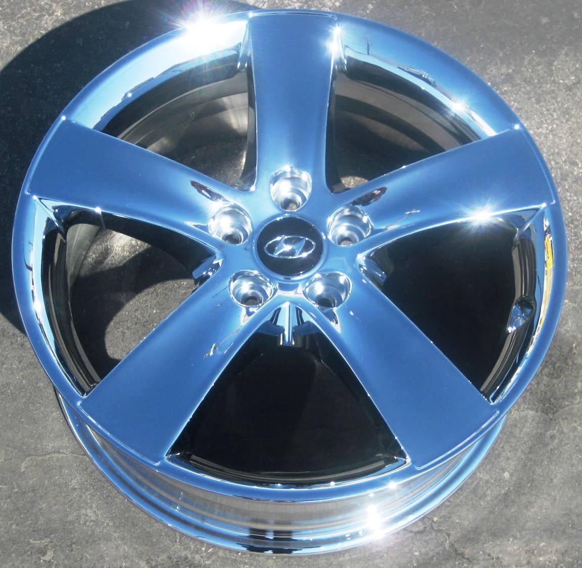 "New 18"" Factory Hyundai Veracruz azera Elantra Chrome Wheels Rims Set of 4"