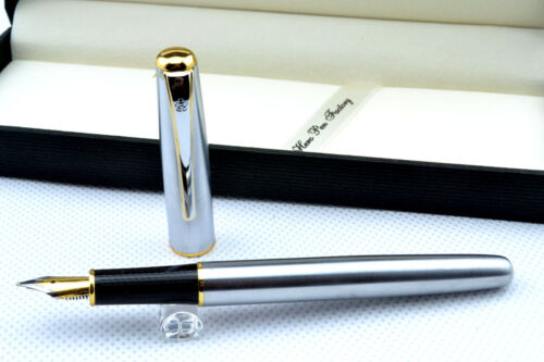 NEW 1pcs HERO 704 Fine Nib Fountain Pen silvery in Collectibles, Pens & Writing Instruments, Pens | eBay