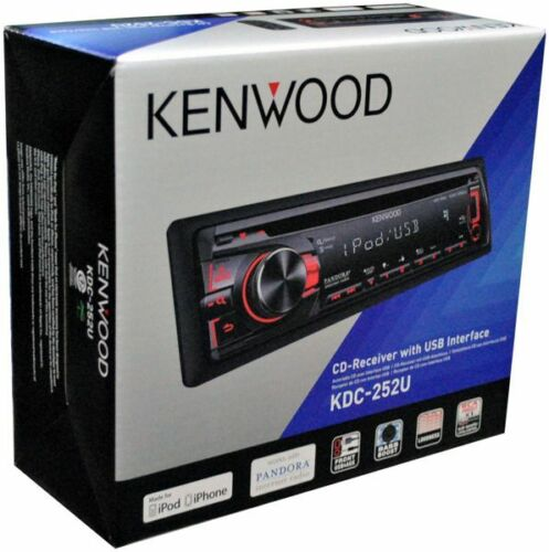 NEW 2012 KENWOOD KDC-252U CAR STEREO IPHONE IPOD ANDROID PANDORA AUX USB KDC252U in Consumer Electronics, Vehicle Electronics & GPS, Car Audio | eBay