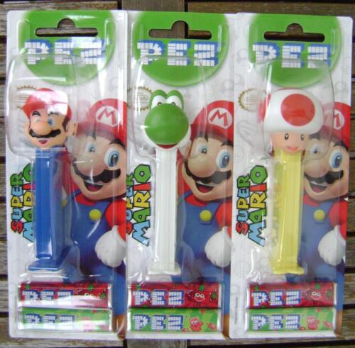 NEW 2013 EUROPEAN PEZ SET OF 3 MOC SUPER MARIO COMPLETE SET NINTENDO KINOPIO in Collectibles, Pez, Keychains, Promo Glasses, Pez | eBay