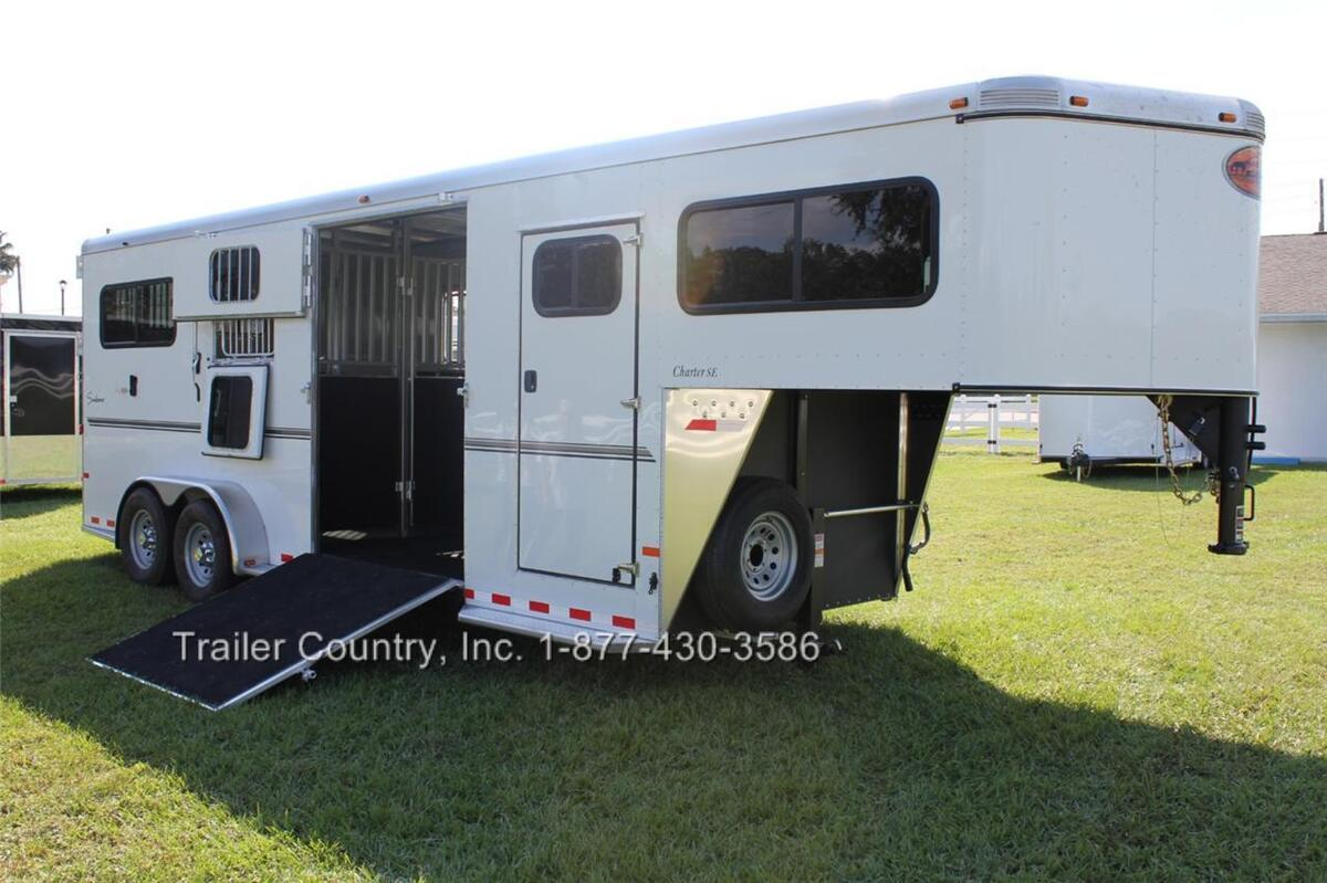 New 2013 Sundowner Charter SE Gooseneck 2 or 3 Aluminum Horse Stock Trailer SL