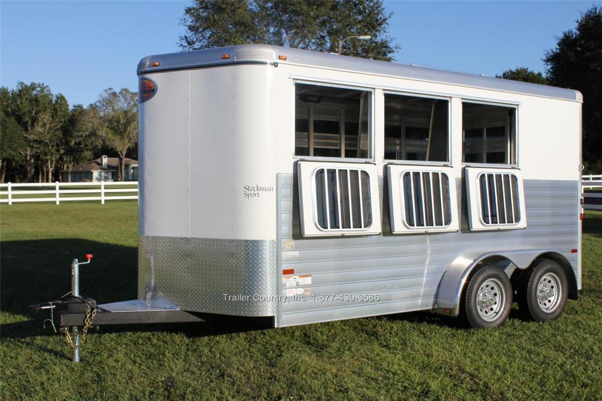 New 2013 Sundowner Stockman Sport 3 Horse Slant Load All Aluminum Trailer