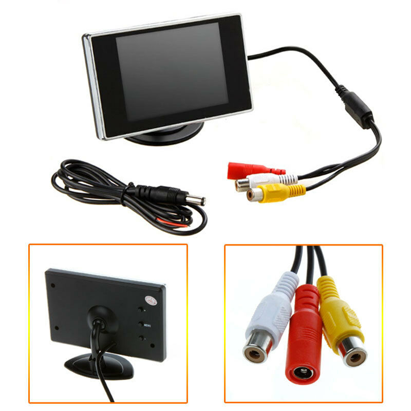 """New 3 5"""" TFT LCD Color Screen Car Rearview Monitor DVD VCR"""