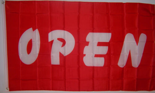 NEW 3 FEET x 5 FEET RED OPEN BUSINESS SIGN BANNER FLAG in Business & Industrial, Retail & Services, Business Signs | eBay