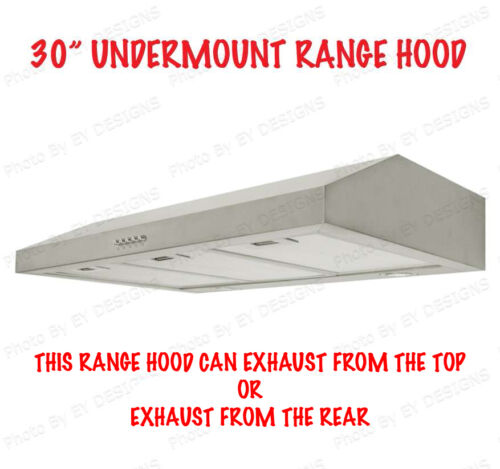 "NEW 30"" UNDER CABINET MOUNT S/S RANGE HOOD KITCHEN 30"" in Home & Garden, Major Appliances, Ranges & Cooking Appliances 
