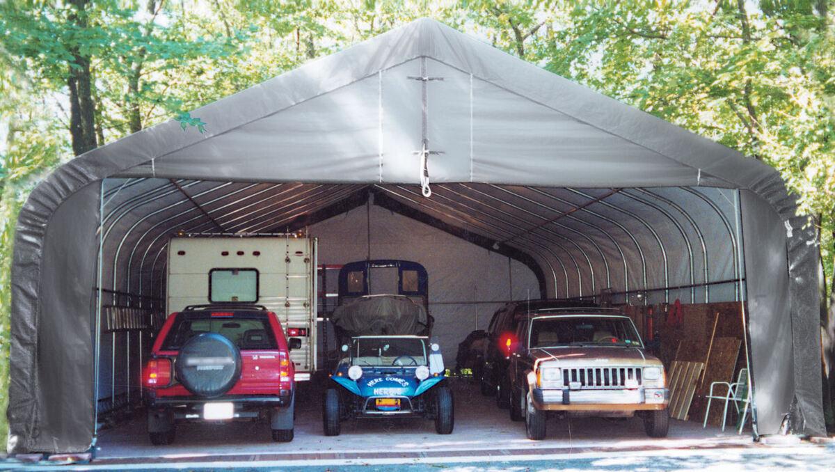 New 30x40x16h Portable 3 Car Garage Shelter Logic Rv Boat
