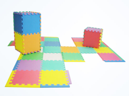 "NEW 36 Thick Rainbow Foam Interlocking Puzzle Play Mat w/ Edges & Borders 12""x12 in Toys & Hobbies, Educational, Alphabet & Language 