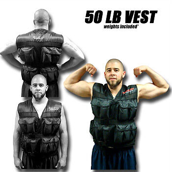 NEW 50LB pound Weighted Training Exercise Weight Vest in Sporting Goods, Exercise & Fitness, Gym, Workout & Yoga | eBay