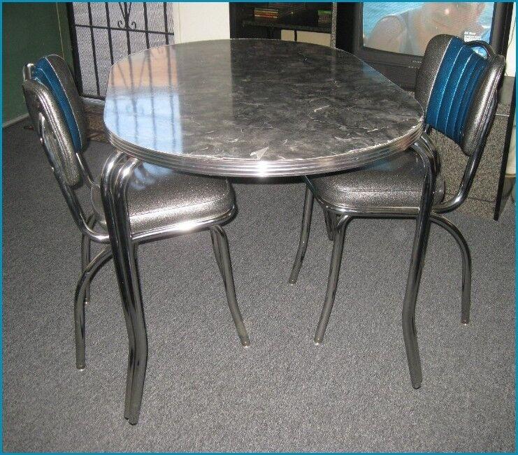 New 50 S Retro Diner Chrome Formica Dining Dinette Set