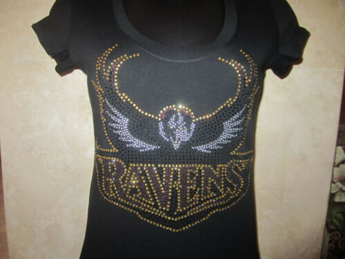 NEW BALTIMORE RAVENS BLING RHINESTONE T-SHIRT in Sports Mem, Cards & Fan Shop, Fan Apparel & Souvenirs, Football-NFL | eBay
