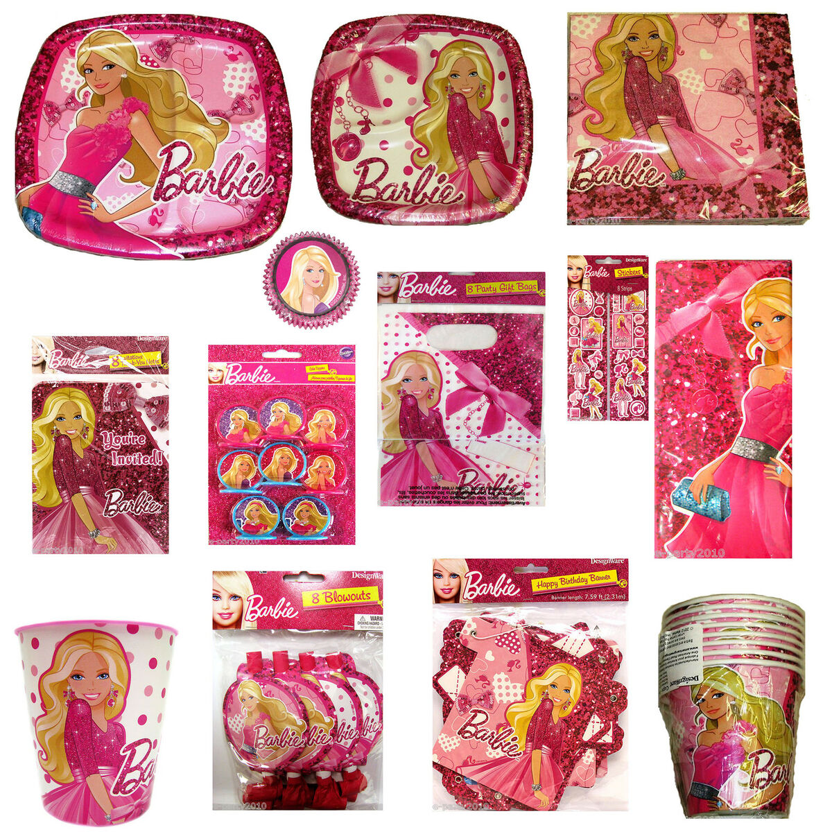 Barbie fashion fairytale birthday party supplies 71