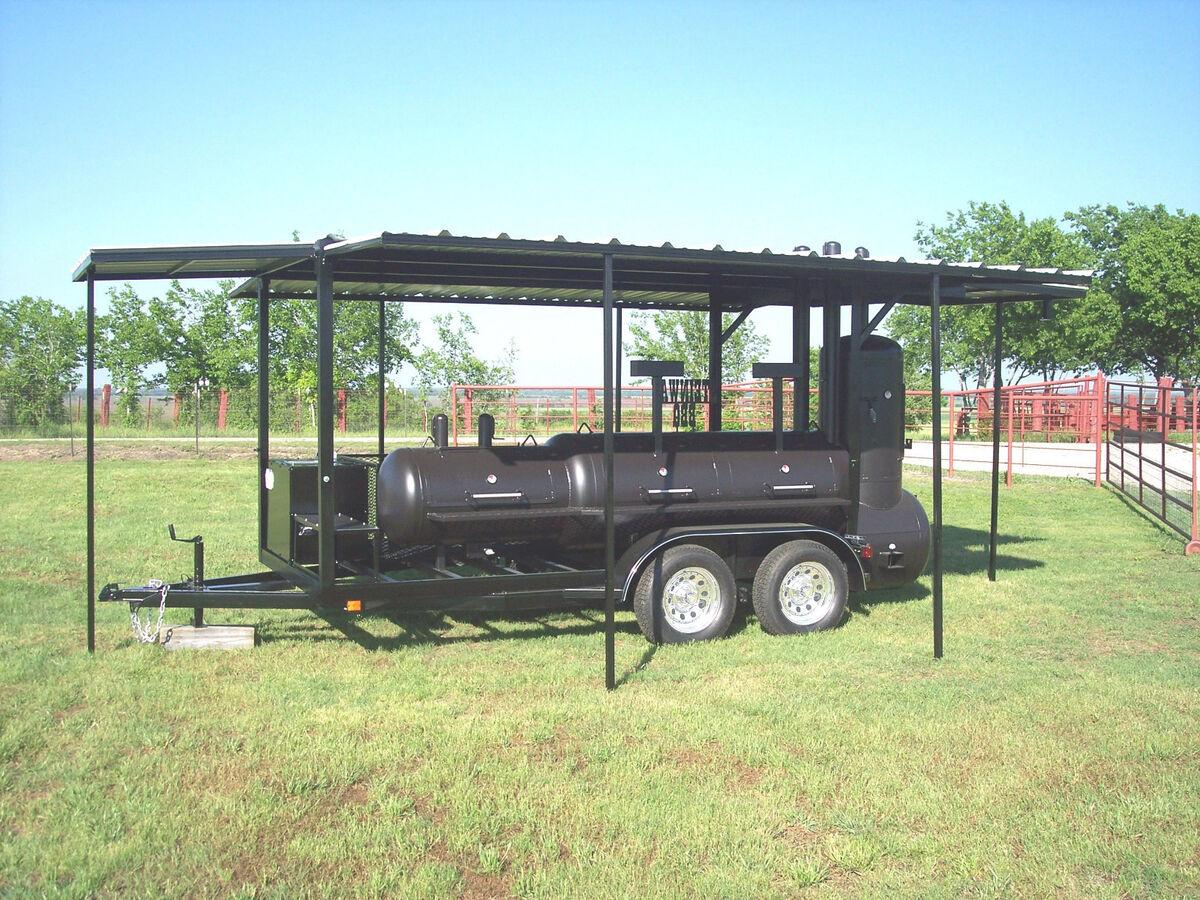 Pellett bbq pits on a trailer autos weblog