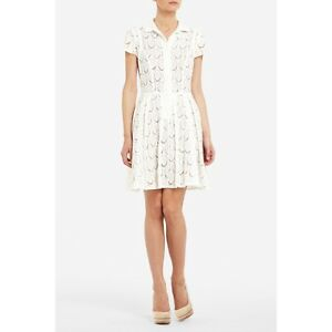 Bcbg White Dress on New Bcbg Kiran White Lace Shirt Dress 8  268 Fng6o397   Ebay
